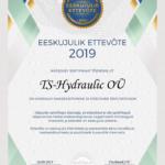 Eeskujulik ettevõte 2019 TS-Hydraulic OÜ