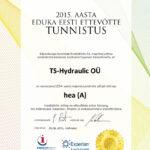 Edukas Eesti ettevõte 2015 TS-Hydraulic OÜ